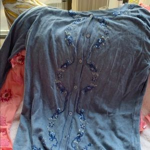 Escada blue cardigan. Sequins